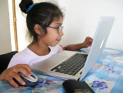 Mireya on the Computer