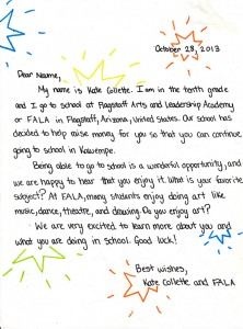 FALA Letter to Naume