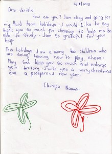 Naume's letter